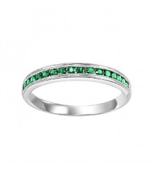 Emerald Stackable Ring FR1033
