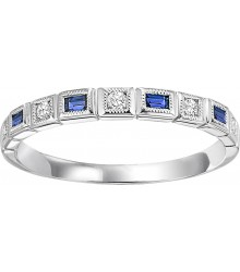Sapphire and Diamond Stackable Ring FR1042