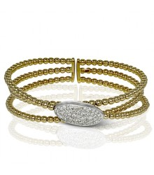 Simon G 18KY Diamond Bangle