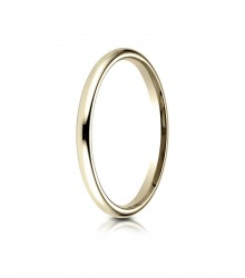2mm 14K Yellow Gold Benchmark Comfort Fit Band