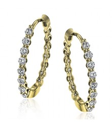 Simon G LE4546-Y Diamond Earrings