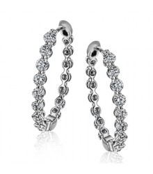 Simon G LE4547-W Diamond Earrings