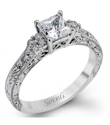 Simon G Engraved Engagement Setting LP2253