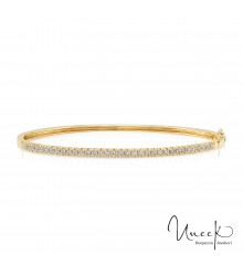 Uneek Holloway 14KY Diamond Bangle