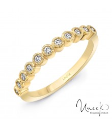 Uneek Gramercy 14KY Diamond Stackable Band