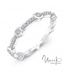 Uneek Santa Monica 14K White Diamond Band