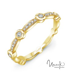 Uneek Santa Monica 14K Yellow Diamond Band