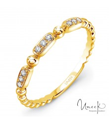 Uneek Rodeo 14K Yellow Gold Diamond Band