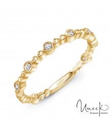 Uneek Wilcox 14K Yellow Diamond Band