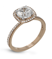 Simon G 18K Rose Gold Engagement Setting