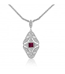 Vintage Inspired Ruby Pendant