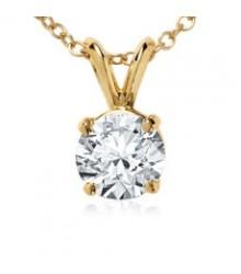 1/4 Carat 14K Yellow Gold Diamond Pendant