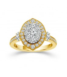 1.25 Carat TW Oval Ring
