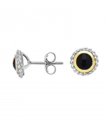 Sterling Black Onyx Earrings