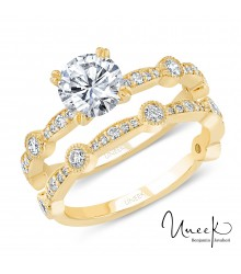 Uneek 14K Yellow Gold Engagement Setting