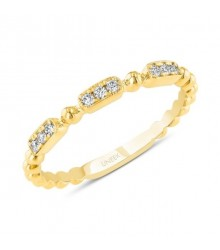 Uneek 14K Yellow Diamond Band